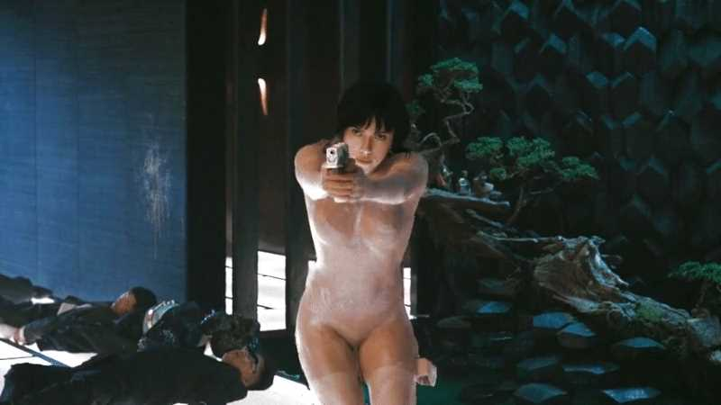 Major Motoko Kusanagi (Scarlett Johansson) from «Ghost in the Shell» (2017).